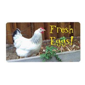 Fresh Eggs Shipping Label