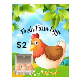 Fresh Farm Eggs Business Promotional Flyer