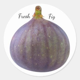 Fresh fig classic round sticker