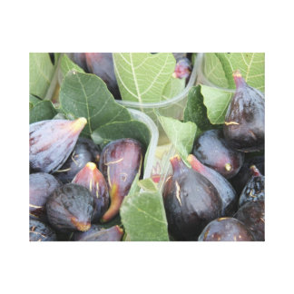 Fresh figs at a local market canvas print