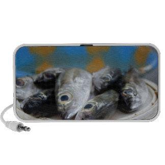 Fresh fish on fish market Mercado de Peixe), Portable Speakers