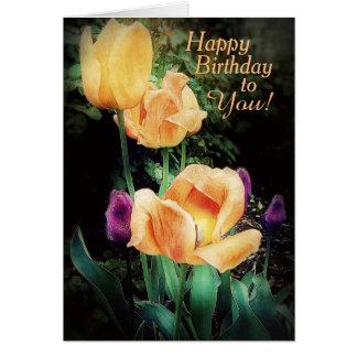 Fresh Floral Birthday Wishes Card