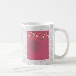 Fresh Floral Delight Basic White Mug