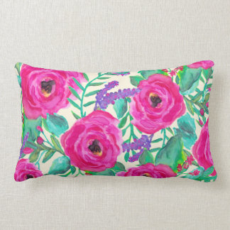 Fresh Florals Decorative Lumbar Pillow