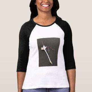 fresh flower on soft shirt