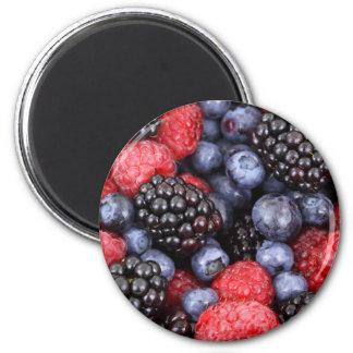 Fresh Fruit 6 Cm Round Magnet