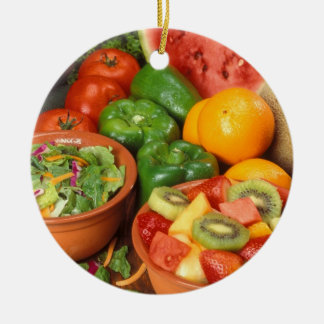 Fresh fruit and vegetables christmas ornament