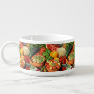 Fresh fruit and vegetables chili bowl
