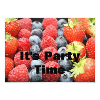 """Fresh Fruit  It's Party Time Invitation 5"""" X 7"""" Invitation Card"""