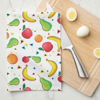 Fresh Fruit Print Kitchen Towels
