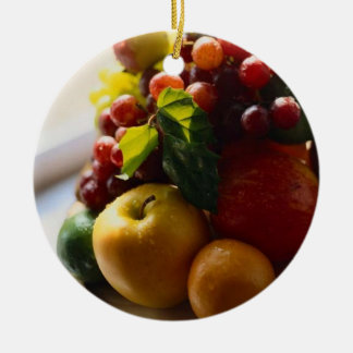 FRESH FRUIT ROUND ORNAMENT