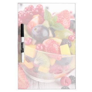 Fresh fruit salad dry erase board