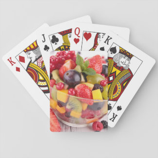Fresh fruit salad playing cards