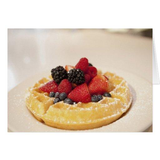 Fresh fruit waffle card