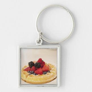 Fresh fruit waffle key ring