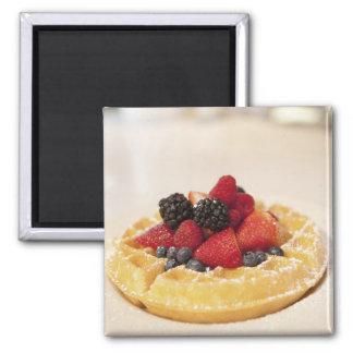 Fresh fruit waffle magnet