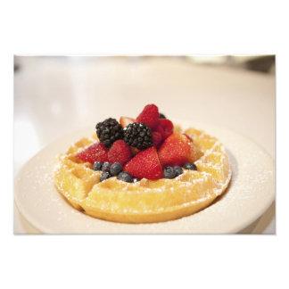 Fresh fruit waffle photographic print