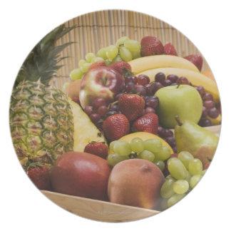 Fresh fruits plate