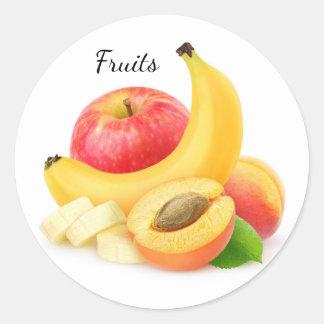 Fresh fruits round sticker