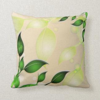 Fresh Garden Leaves American MoJo Cushion