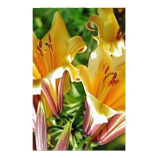 FRESH Golden Yellow Flower Show  Exotic Wild Show Stationery