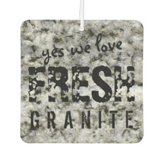 Fresh Granite Rock Texture Custom Text Car Air Freshener