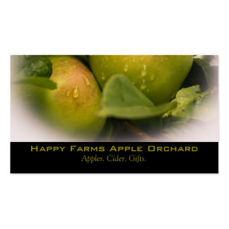 Fresh Green Apples with a Misty Border Pack Of Standard Business Cards
