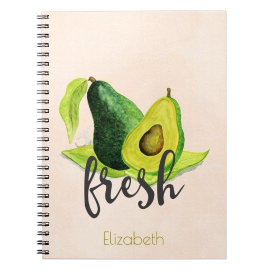 Fresh Green Avocado Still Life Fruit in Watercolor