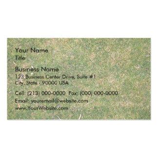 Fresh Green Grass Texture Business Card Templates