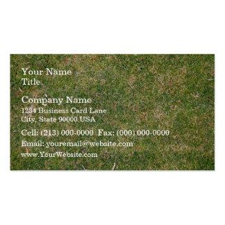 Fresh Green Grass Texture Business Card