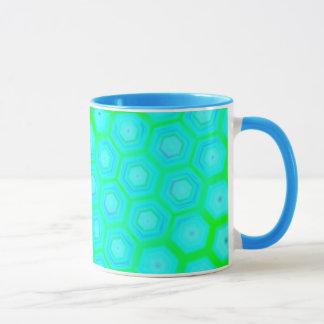 Fresh Green Hexagons Mug