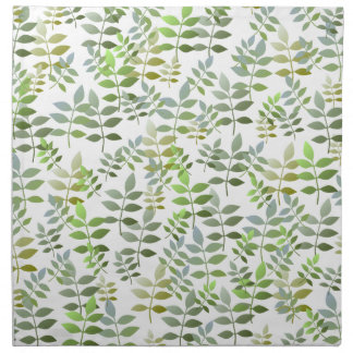 Fresh Green Leaves Pattern Napkin
