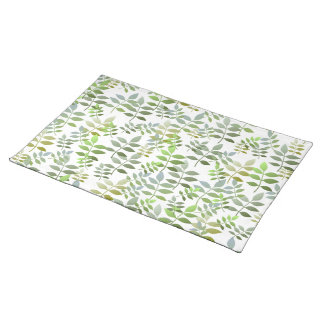 Fresh Green Leaves Pattern Placemat