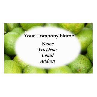 Fresh Green Lemons and Lime - Juice Theme Business Card Templates