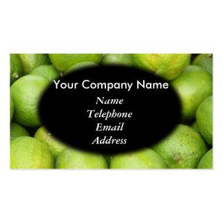 Fresh Green Lemons and Lime - Juice Theme Business Card Template