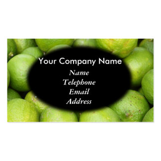Fresh Green Lemons and Lime - Juice Theme Pack Of Standard Business Cards