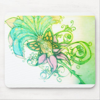 Fresh Green ombre' tropical graphic design mousepa Mouse Pad