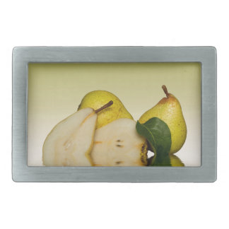Fresh Green Pears Fruit Belt Buckles