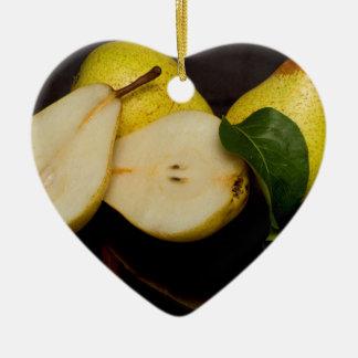Fresh Green Pears Fruit Christmas Ornament