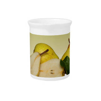 Fresh Green Pears Fruit Pitcher