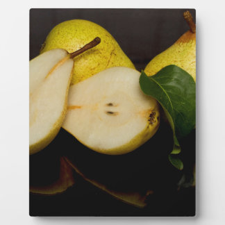 Fresh Green Pears Fruit Plaque