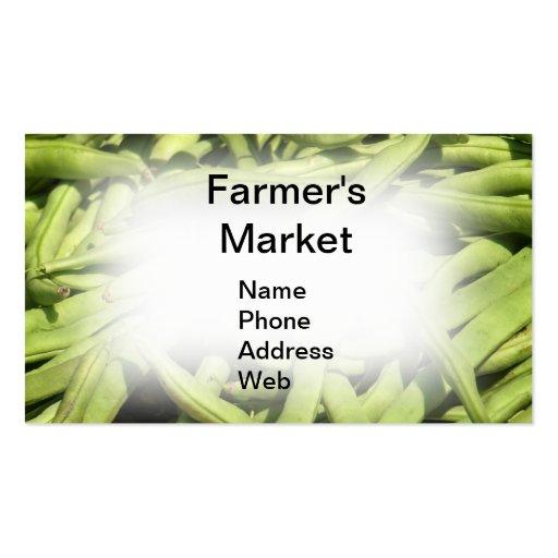 Fresh Green String Beans Business Card