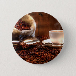 Fresh Ground Coffee 6 Cm Round Badge