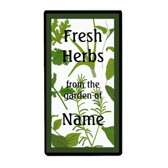 Fresh Herbs Food Label