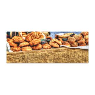 """Fresh Homemade Bread Stall 52"""" x 20"""", 1.5"""" Canvas Canvas Print"""