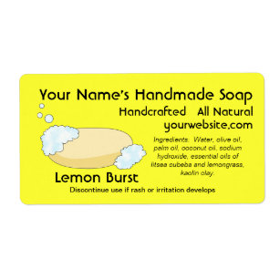 Fresh Homemade Natural Soap Labels Template