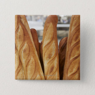 Fresh, hot baguettes 15 cm square badge