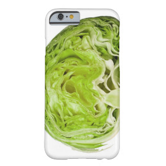 Fresh iceberg lettuce cut in half, on white barely there iPhone 6 case