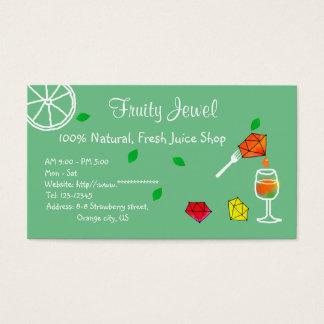 FRESH Juice Shop Name Card Jewel