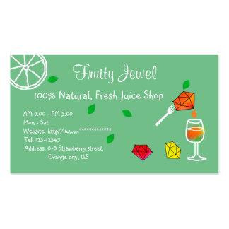 FRESH Juice Shop Name Card Jewel Pack Of Standard Business Cards